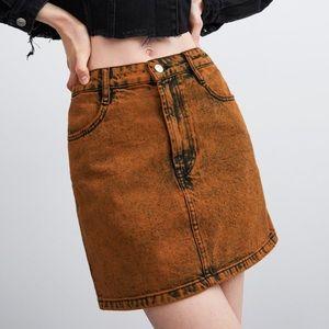 NWT • Zara • Washed Effect Mini Skirt
